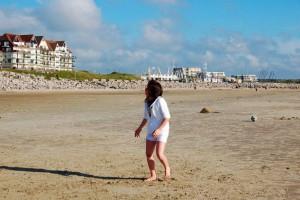 Sur la plage d'hardelot