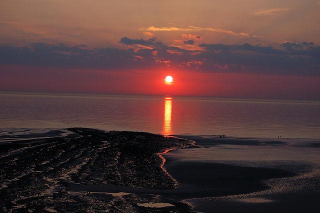 coucher de soleil à wimereux