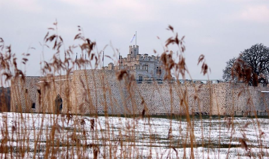 Le chateau d'hardelot sous la neige